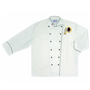 NFL Washington Redskins Premium Chef Coat Professional Tailgate White
