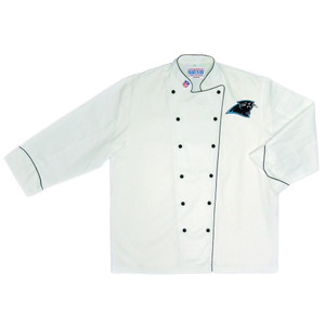 NFL Carolina Panthers Premium Chef Coat Professional Style Tailgate White