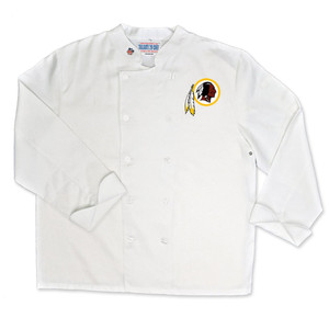 NFL Washington Redskins Classic Chef Coat Professional Style Mens White