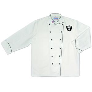 NFL Oakland Raiders Premium Chef Coat Professional Tailgate Style White