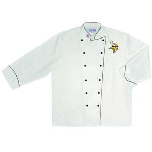 NFL Minnesota Vikings Premium Chef Coat Professional Style Tailgate White