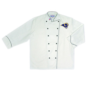 NFL St Louis Rams Premium Chef Coat Professional Tailgate Style White