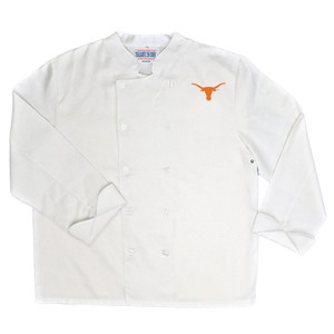 NCAA Texas Longhorns Classic Chef Coat Professional Style Tailgate White