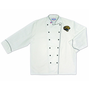 NFL Jacksonville Jaguars Premium Chef Coat Professional Tailgate White
