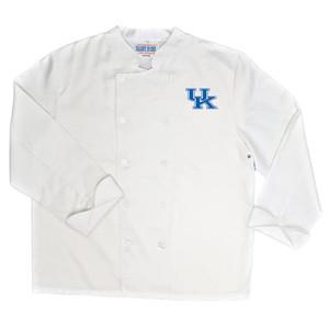 NCAA UK Kentucky Wildcats Classic Chef Coat Professional Style Mens White
