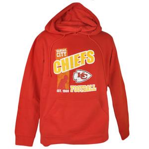 NFL Kansas City Chiefs Dahl Basic Pullover Fleece Hoodie Hooded Sweater