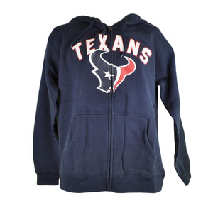 NFL Houston Texans Quinn Full Zip Fleece Hoodie Hooded Sweater Navy Blue