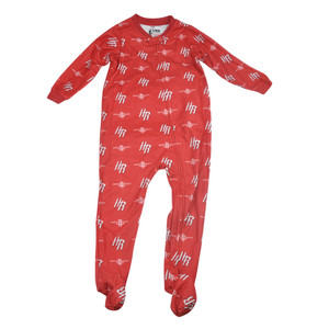 NBA UNK Houston Rockets Toddler Footed Pajamas Bodysuit Zipper Sleep Wear Red