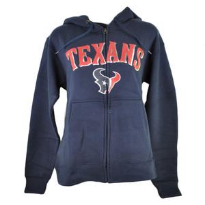 NFL Houston Texans Stark Sparkle Womens Ladies Zip Fleece Hoodie Sweater
