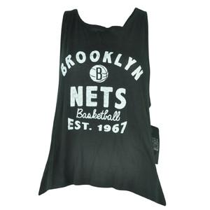 NBA UNK Brooklyn Nets Women Ladies Black Champ Muscle Tank Sleeveless Top