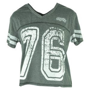 NBA UNK San Antonio Spurs Women Ladies End Zone V-Neck Jersey Tshirt Tee