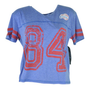 NBA UNK Los Angeles Clippers Women Ladies End Zone V-Neck Jersey Tshirt