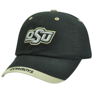 NCAA Oklahoma State Cowboys Garment Wash Slouch Fit Khaki Tip Sun Buckle Hat Cap