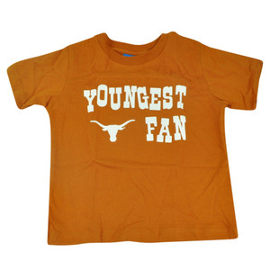 NCAA Texas Longhorns Haney Toddler Tshirt Youngest Fan Tee Burnt Orange Boys