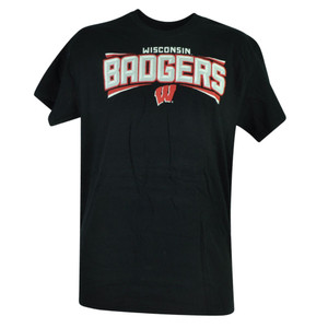 NCAA Wisconsin Badgers Channel Mens Adult Short Sleeve Tee Tshirt Cotton Sport