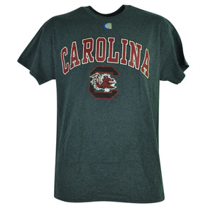 NCAA South Carolina Gamecocks End Zone Short Sleeve Tshirt Grey Tee Mens Shirt