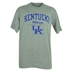NCAA Kentucky Wildcats Silver Oak Distressed Tshirt Tee Cotton Mens Short Sleeve