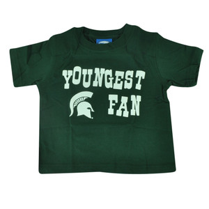 NCAA Michigan State Spartans Haney Youngest Fan Tshirt Tee Toddler Green Cotton