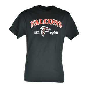 NFL Atlanta Falcons Commissioner EST 1966 Football Mens Black Tshirt Tee
