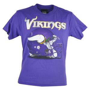 NFL Reebok Minnesota Vikings Benchmark Helmet Football Youth Tshirt Tee