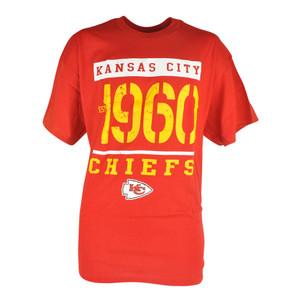 NFL Kansas City Chiefs Distressed Establishment Tshirt Mens Football Tee