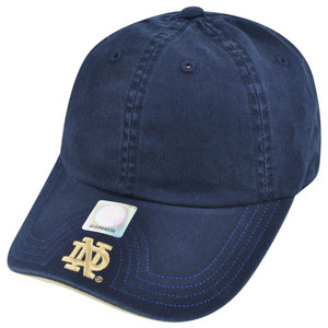 NCAA American Needle Notre Dame Fighting Irish Velcro Flambam Hat Cap Navy