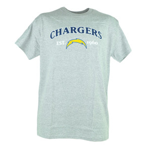 NFL San Diego Chargers Commissioner EST 1960 Football Tshirt Tee Men Grey