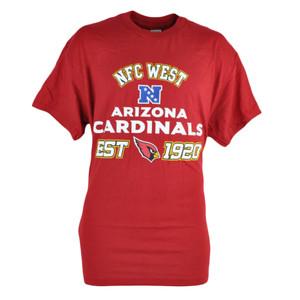 NFL Arizona Cardinals NFC West Maroon Tshirt In Tin Gift Set Football Tee