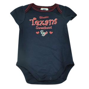NFL Houston Texans Set Infant Bodysuits Girls Creeper Baby Fan Navy Ruffles