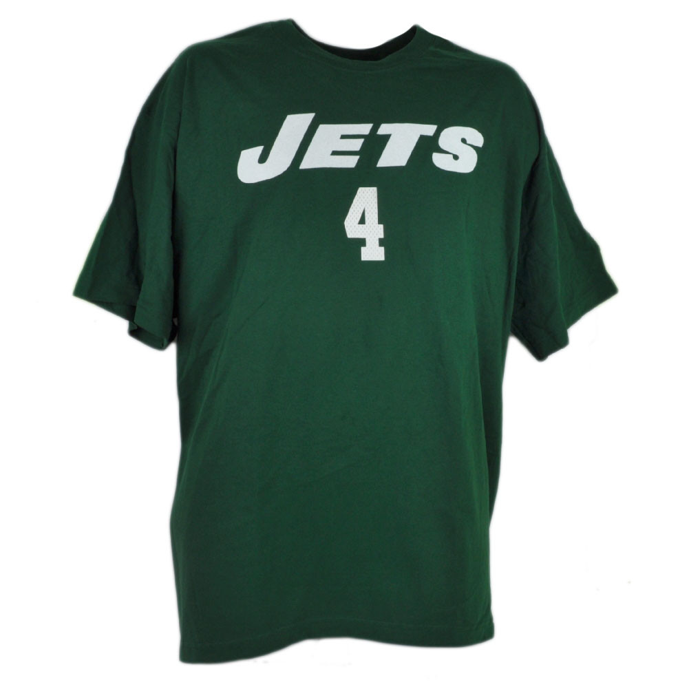 07b56d2ca NFL New York Jets Brett Favre Tshirt Tee 4 Reebok Rbk Green Mens Cotton  Shirt. Price   14.95. Image 1