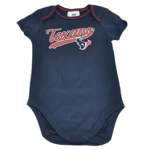 NFL Houston Texans Infant Baby 3 Piece Baby Bodysuit Creeper Boy Football Navy
