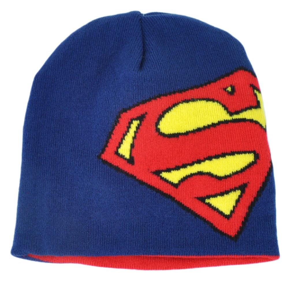 70894423db0 ... new zealand superman reversible knit beanie red blue cuffless toque  superhero c4293 d810e