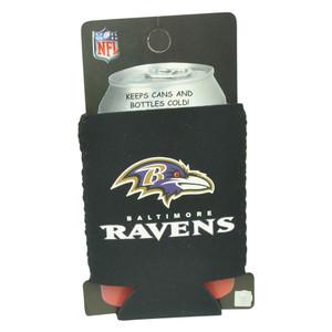 NFL Baltimore Ravens Can Coozie Beer Sleeve Drink Cooler Coolie Beverage Black