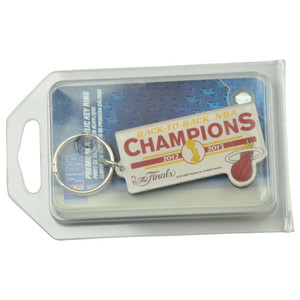 NBA Miami Heat 2012 2013 Back To Back Champions The Finals Key Chain Acrylic
