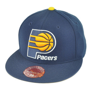 NBA Mitchell Ness TK40 Indiana Pacers Navy Fitted Alternate Hat Cap