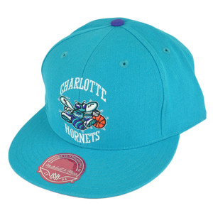 NBA Mitchell Ness TK07 Charlotte Hornets Team Second Fitted Hat Cap