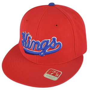 NBA Mitchell Ness TK07  Sacramento Kings Red Team Second Fitted Hat Cap