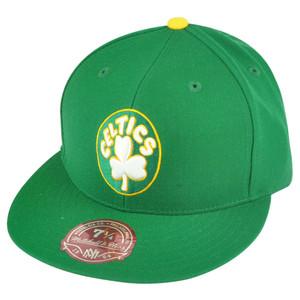 NBA Mitchell Ness Boston Celtics Green Fitted TK41 Alternate 2 Hat Cap
