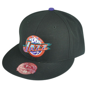 NBA Mitchell Ness Utah Jazz Black Fitted TK41 Alternate 2 Hat Cap
