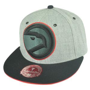 NBA Mitchell Ness Atlanta Hawks TV28 XL Logo Heather Fitted Hat Cap
