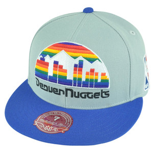 NBA Mitchell Ness Denver Nuggets TU92 Tone Color Fitted Hat Cap