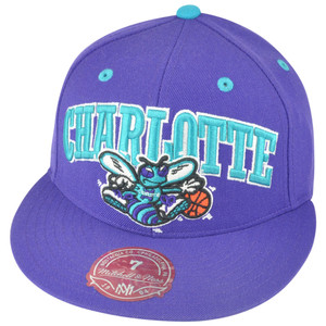 NBA Mitchell Ness Charlotte Hornets TU13 Arch Logo Fitted Hat Cap