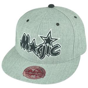 NBA Mitchell Ness Orlando Magic TS53 HWC Heather Grey Fitted Hat Cap