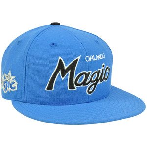 NBA Mitchell & Ness G023 Wool Team Color Orlando Magic Fitted Hat Cap