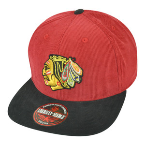 NHL American Needle Chicago Blackhawks Chapparel Micro Flat Bill Snap Buckle Hat