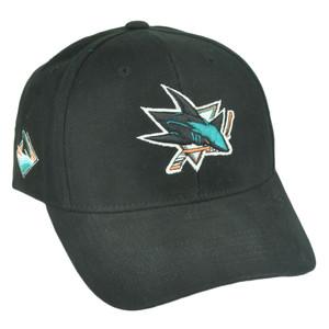 NHL San Jose Sharks Sawchuck Fan Favorite Velcro Black Adjustable Hat Cap Hockey