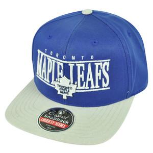 NHL American Needle Toronto Maple Leafs Snapback Nineties Hat Cap Flat Bill Blue