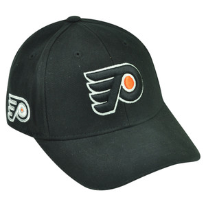 NHL Philadelphia Flyers Sawchuck Black Adjustable Hockey Velcro Hat Cap Game