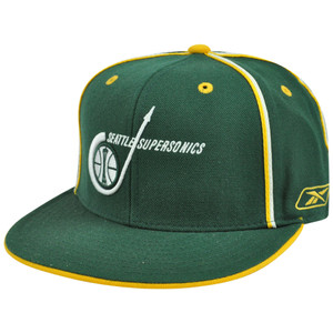 NBA HWC Reebok Hardwood Classics Seattle Supersonics Sonics T231S Fitted Wool