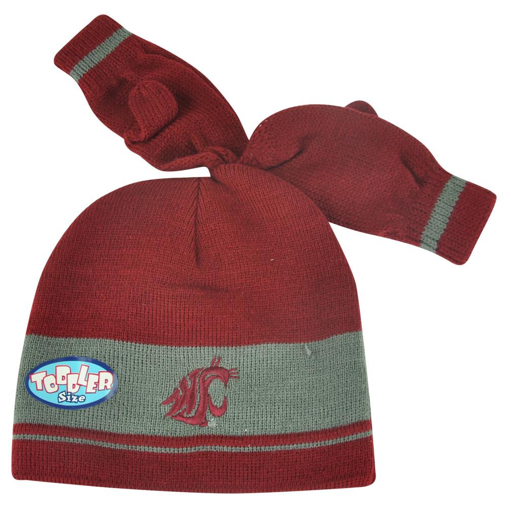 08fb3330360 NCAA Washington State Cougars Gloves   Knit Set Toddler Cuffless Hat Striped.  Price   13.95. Image 1